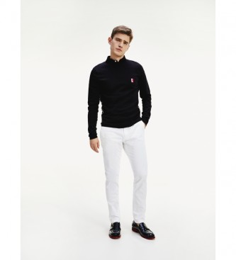 Tommy Hilfiger Polo Core Tipped Slim negro