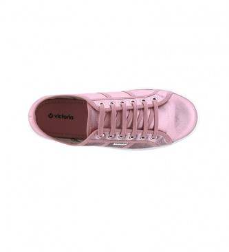 Victoria Sapatos Barcelona Lona metálica rosa