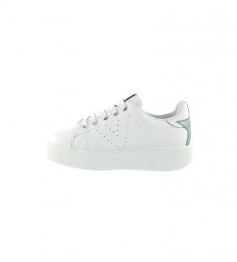 Victoria Utopia sapatos de couro branco, azul