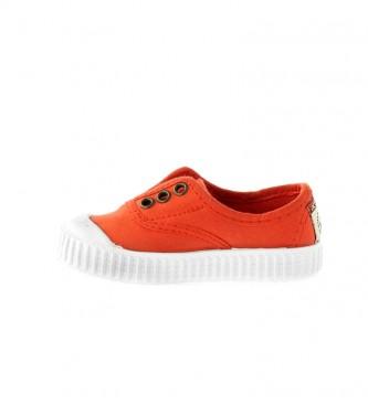 Victoria Sapatos de alcaçuz laranja
