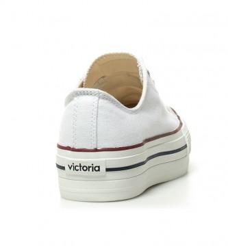 Victoria Sapatilhas brancas de basquetebol -Altura da plataforma: 4 cm