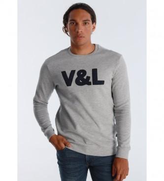 Victorio & Lucchino, V&L T-shirt in ciniglia grigia
