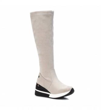 Xti Botas 043367 branco -Altura da cunha: 7 cm