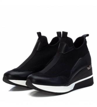 Xti Zapatillas con cuña 043035 negro -Altura cuña 7cm-