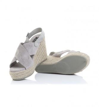 Xti Sandalias 49088 gris -Altura cuña: 10cm-