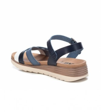 Xti Sandals 042519 navy -Height Wedge: 5cm