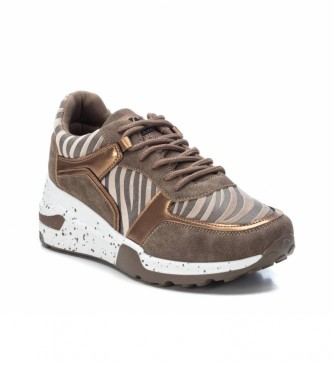 Xti Slippers 044599 bronze - Wedge height: 6 cm