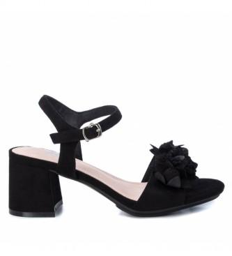 Xti Sandales 035193 noires - Hauteur du talon : 7cm