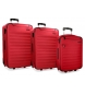 Compar Movom Juego de maletas Movom Nairobi Rojo 55-65-75cm