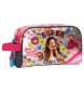Neceser doble compartimento adaptable a trolley Soy Luna Smile -26x12x16cm-