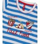 Admas Pyjama à manches courtes Fast Food bleu