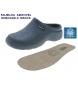 Eva Clog de piel 2146224 azul marino