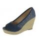 Compar Beppi Sandalias de cuña azul marino -Altura cuña: 10cm-
