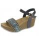 Sandalia de cuña marino -Altura cuña: 6,5cm-
