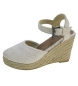 Sandalias de cuña blanco -Altura cuña: 9cm-