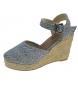 Sandalias de cuña casual denim -Altura cuña: 9cm-