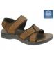 Sandalias de piel marrón
