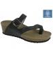 Sandalias de cuña negro-Altura cuña: 4cm-