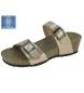 Sandalias de cuña oro -Altura cuña: 4cm-