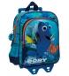 Mochila bolsillo frontal con carro Finding Dory azul -23x28x10cm-