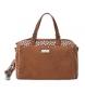 Compar Carmela Leather bag 086103 camel -20x32x16cm