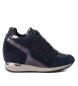 Compar Carmela Chaussure de sport en cuir compensée 066408 marine - Hauteur du talon: 6cm-