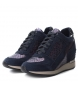 Comprar Carmela Chaussure de sport en cuir compensée 066408 marine - Hauteur du talon: 6cm-