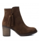 Compar Carmela Leather bootie 066372 camel