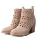 Comprar Carmela Leather boot cow boy wide heel 066696 nude -Heel height: 7cm