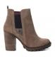 Compar Carmela Chelsea heel ankle boot 066402 taupe