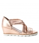 Compar Carmela 066799 sandale en cuir nu - Hauteur de coin : 7cm-