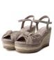 Comprar Carmela Sandalia de piel 066675 taupe -Altura cuña: 9cm-