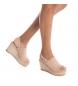 Comprar Carmela Sandalo in pelle 06667676 nudo - Altezza zeppa: 9cm