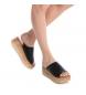 Comprar Carmela Sandalia de piel 066344 negro -Altura cuña: 5 cm-