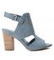 Sandalia de piel 066621 jeans -Altura tacón: 9cm-