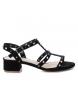 Sandalia de piel 066622 negro -Altura tacón: 4cm-