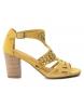 Sandalias de piel 066796 amarillo -Altura tacón: 8cm-