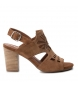 Sandalias de piel 066797 camel -Altura tacón: 8cm-