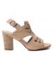 Compar Carmela Leather sandals 066797 nude -Heel height: 8cm
