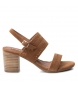 Compar Carmela Leather sandal 066803 camel -heel height: 7cm