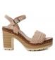 Sandalias de piel bios 066671 nude  -Altura tacón: 10cm-
