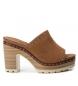Sandalias de piel bios 066672 camel -Altura tacón: 10cm-