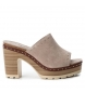 Sandalias de piel bios 066672 taupe -Altura tacón: 10cm-