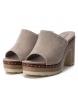 Comprar Carmela Bios 066672 taupe couro sandálias - altura da roda: 10cm