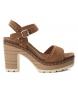 Sandalias de piel bios 066673 camel -Altura tacón: 10cm-