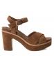Sandalias de piel bios 066684 camel -Altura tacón: 10cm-