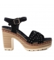 Compar Carmela Leather sandals 066686 black -heel height: 10cm