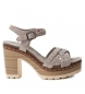 Sandalias de piel 066686 taupe -Altura tacón: 10cm-