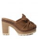 Sandalias de piel bios 066717 camel -Altura tacón: 10cm-