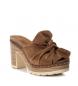 Comprar Carmela Sandalias de piel bios 066717 camel -Altura tacón: 10cm-